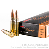 500 Rounds of 123gr FMJ 7.62x39 Ammo by PMC for AK-47 Rifles