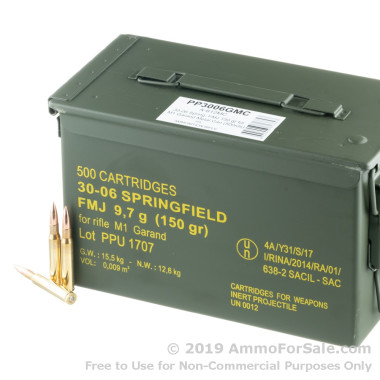 500 Rounds of Prvi Partizan M1 garand ammo for sale