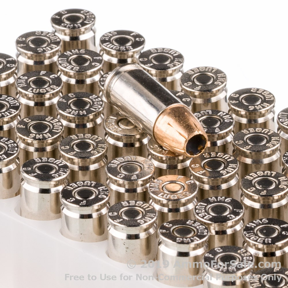 1000 Rounds of 124gr HST JHP 9mm Ammo by Federal
