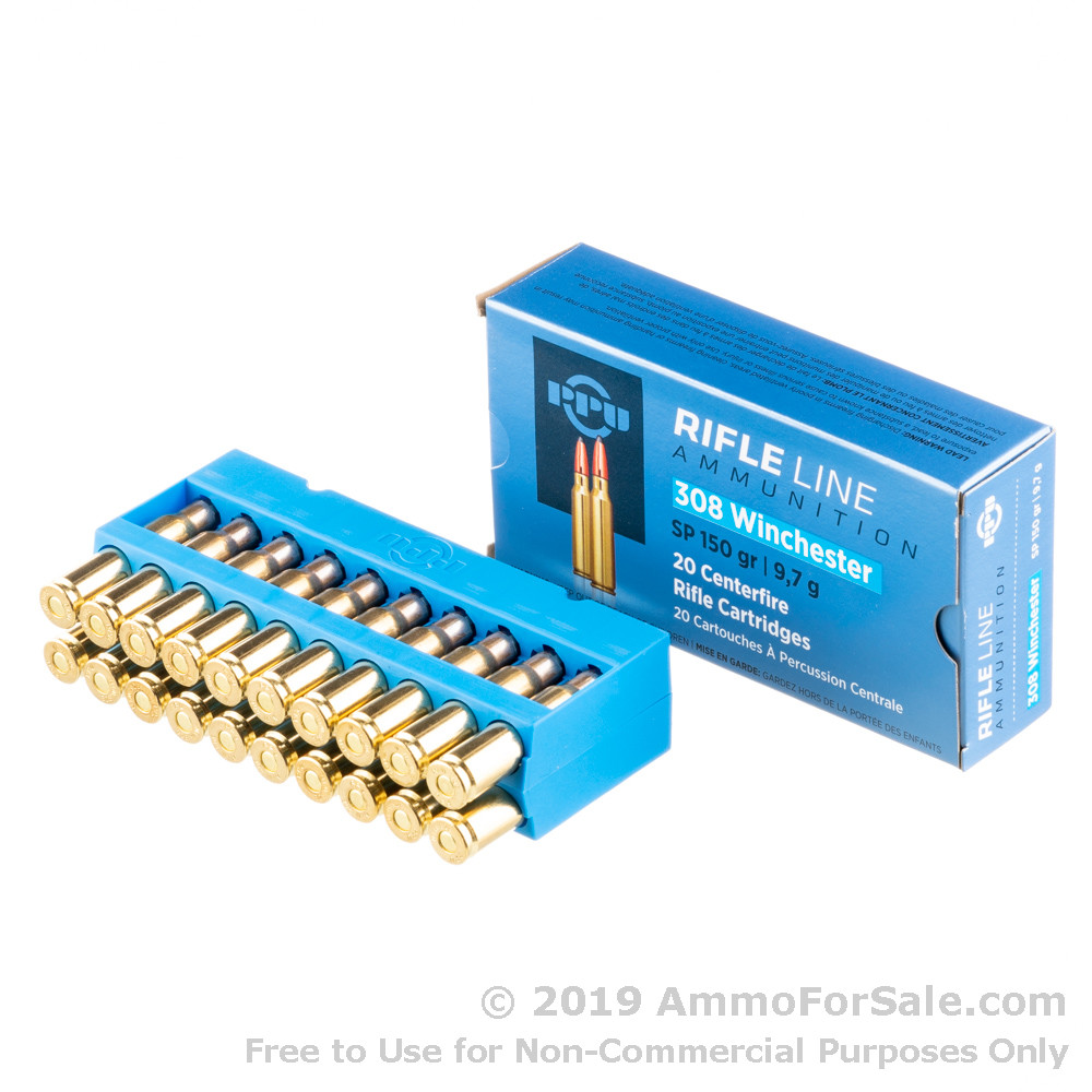 500 Rounds of 150gr SP  308 Win Ammo by Prvi Partizan