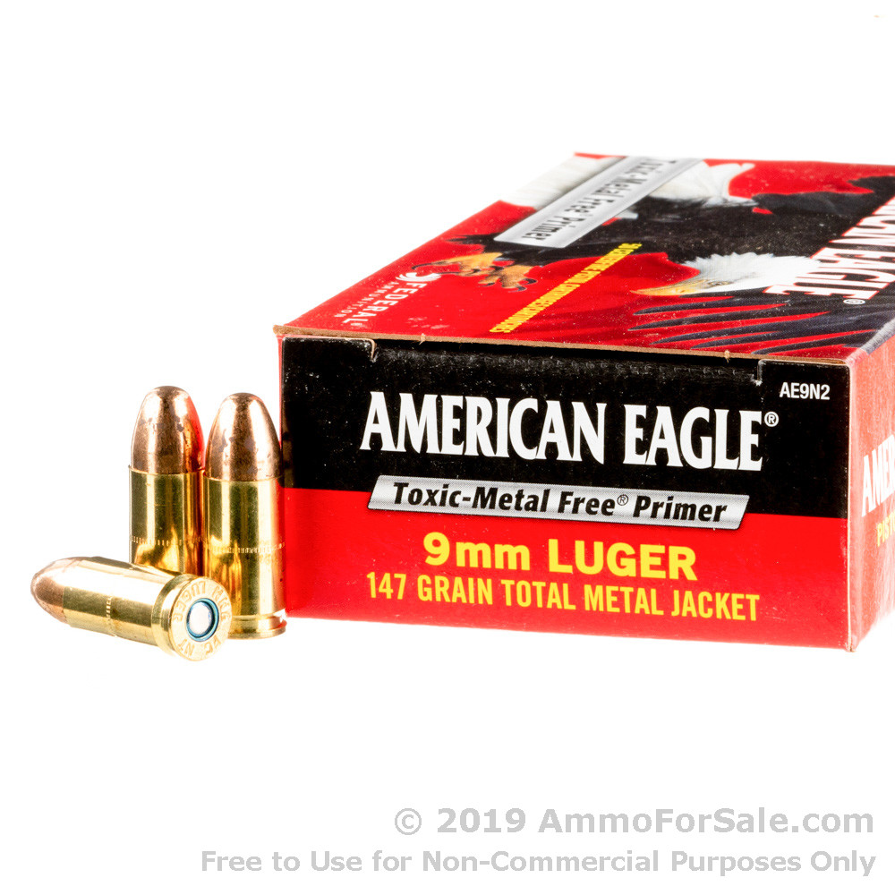 50 Rounds of Discount 147gr TMJ 9mm Ammo For Sale by Federal