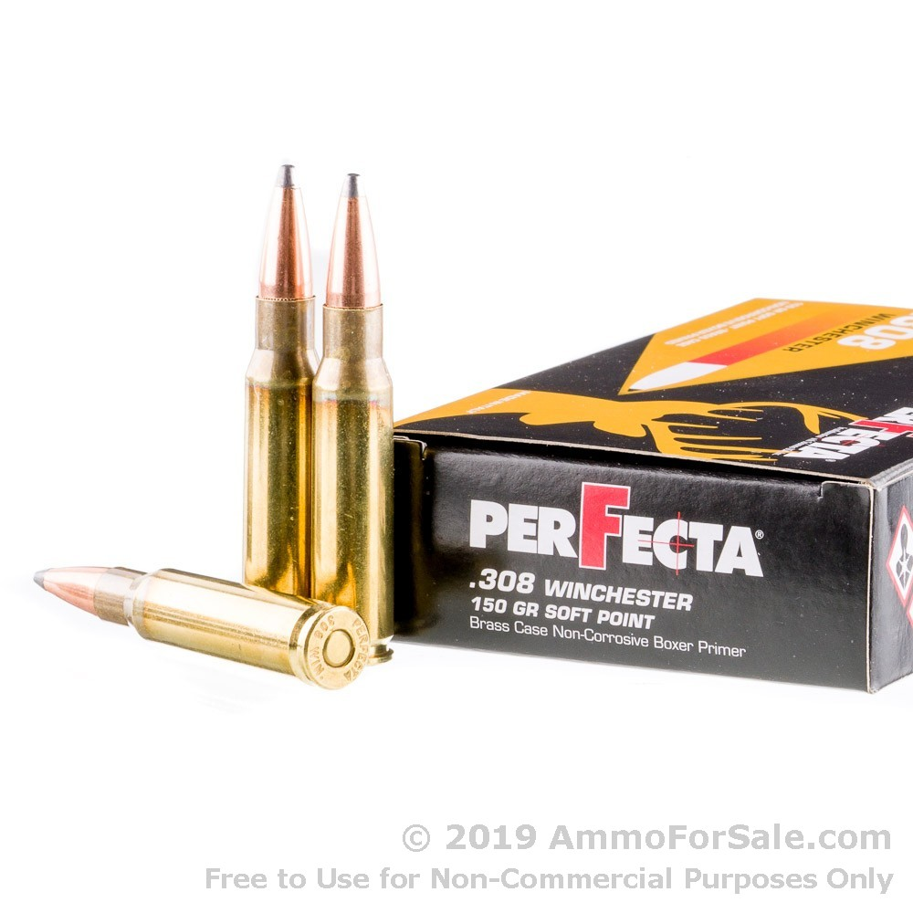 400 Rounds of 150gr SP  308 Win Ammo by Fiocchi Italy PerFecta