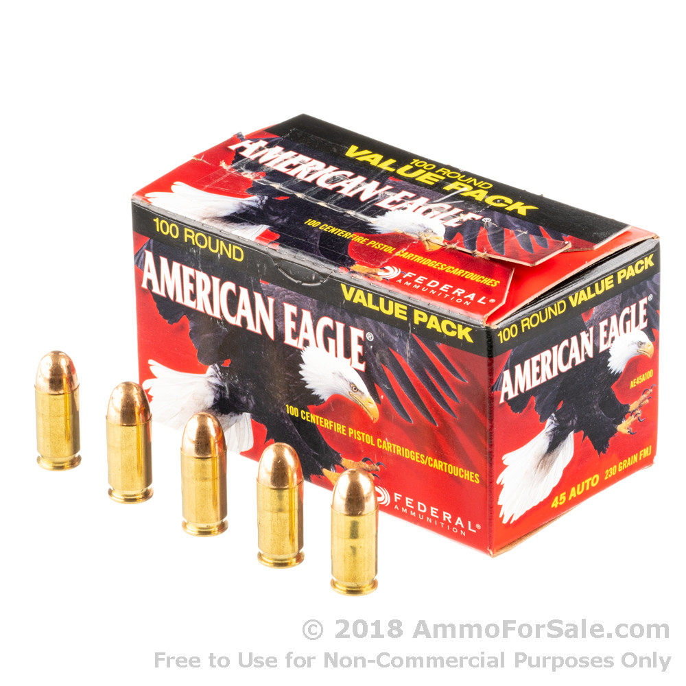 500 rounds of discount 230gr fmj 45 acp ammo for sale by federal