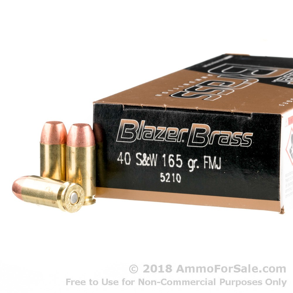 1000 rounds of discount 165gr fmj 40 s w ammo for sale by blazer