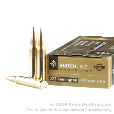 1000 Rounds of 69gr HPBT Match .223 Ammo by Prvi Partizan