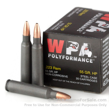 20 Rounds of 55gr HP .223 Ammo by Wolf