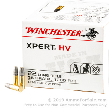 500  Rounds of 36gr LHP .22 LR Ammo by Winchester