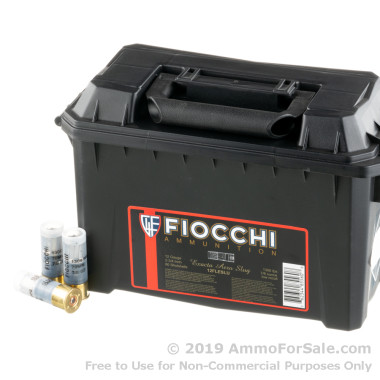 80 Rounds of  Rifled Slug 12ga Ammo by Fiocchi
