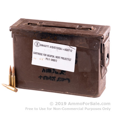 280 Rounds of 145gr FMJ 7.62x51mm Ammo by Ethiopian Military Surplus in 30 Cal Ammo Can