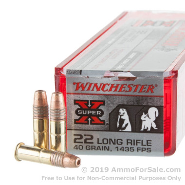 100 Rounds of 40gr HP .22 LR Ammo by Winchester
