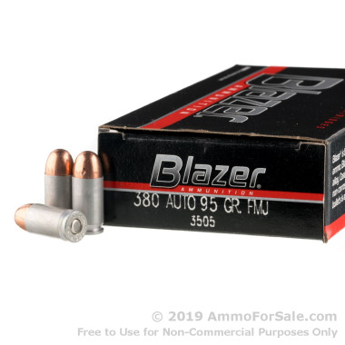 1000 Rounds of 95gr FMJ .380 ACP Ammo by CCI