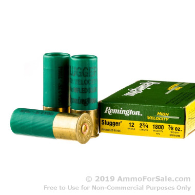 250 Rounds of 7/8 ounce Rifled Slug 12ga Ammo by Remington