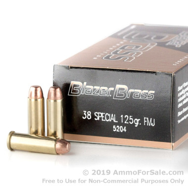 1000 Rounds of 125gr FMJ .38 Spl Ammo by Blazer