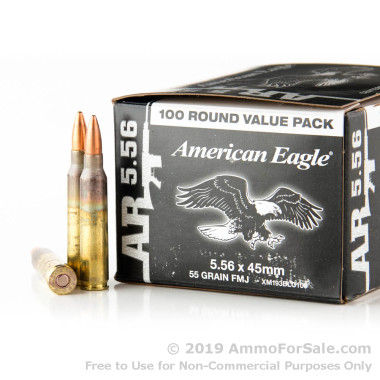 500 Rounds of 55gr FMJBT XM193 5.56x45 Ammo by Federal
