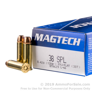 1000 Rounds of 130gr FMC .38 Spl Ammo by Magtech
