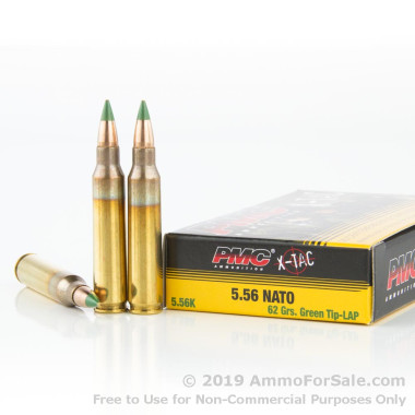 600 Rounds of 62gr FMJ 5.56x45 Ammo by PMC