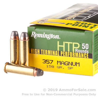 50 Rounds of 158gr SP .357 Mag Ammo by Remington