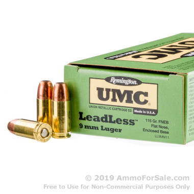 50 Rounds of 115gr FNEB 9mm Ammo by Remington