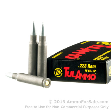 20 Rounds of 75gr HP .223 Ammo by Tula
