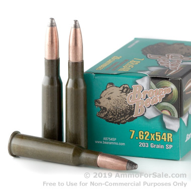 7.62x54r Brown Bear Ammo For Sale