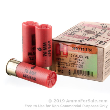 10 Rounds of 1 1/2 ounce #6 shot 12ga Ammo by Hornady
