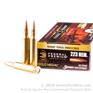200 Rounds of 69gr HPBT .223 Ammo by Federal