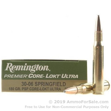 200 Rounds of 180gr PSP 30-06 Springfield Ammo by Remington