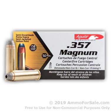 50 Rounds of 158gr SJHP .357 Mag Ammo by Aguila