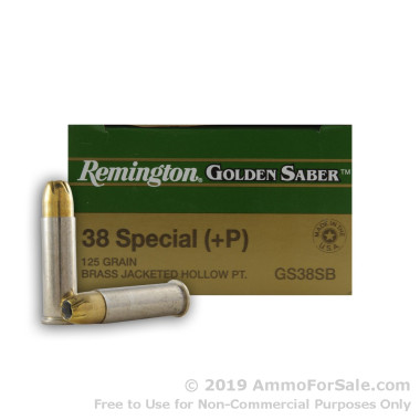 25 Rounds of 125gr JHP .38 Spl Ammo by Remington