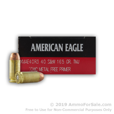 50 Rounds of 165gr TMJ .40 S&W Ammo by Federal