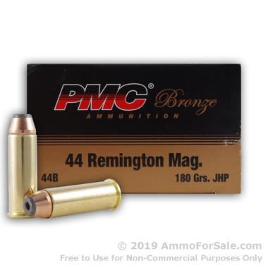50 Rounds of 180gr JHP .44 Mag Ammo by PMC