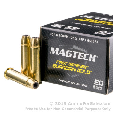 20 Rounds of 125gr JHP .357 Mag Ammo by Magtech