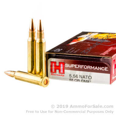 20 Rounds of 55gr GMX 5.56x45 Ammo by Hornady