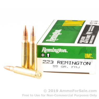 20 Rounds of 55gr MC .223 Ammo by Remington UMC
