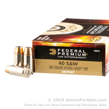 50 Rounds of 180gr JHP .40 S&W Ammo by Federal