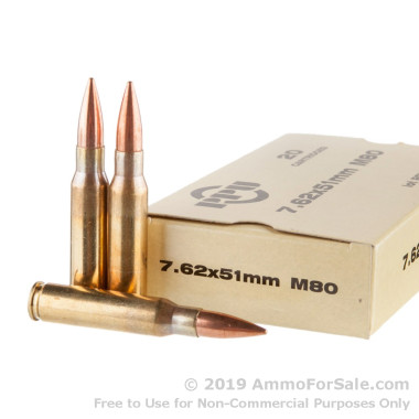 20 Rounds of 145gr FMJ 7.62x51 Ammo by Prvi Partizan