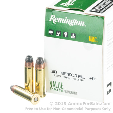 100 Rounds of 125gr SJHP .38 Spl Ammo by Remington
