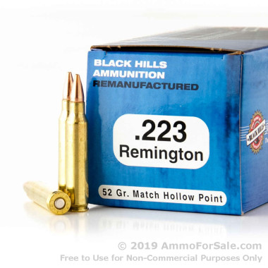 1000 Rounds of 52gr HP Match .223 Ammo by Black Hills Remanufactered Ammunition
