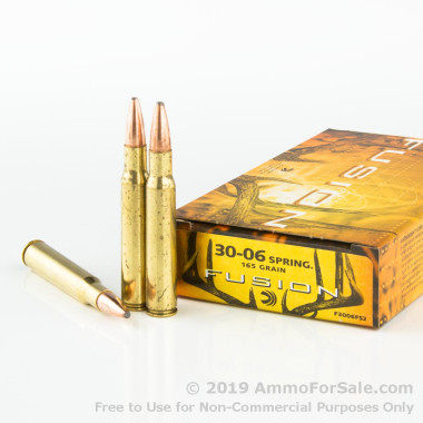 20 Rounds of 165gr Fusion 30-06 Springfield Ammo by Federal