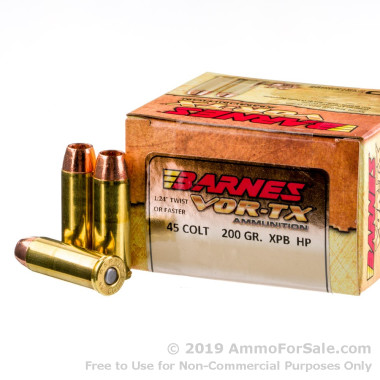 20 Rounds of 200gr XPB HP .45 Long-Colt Ammo by Barnes