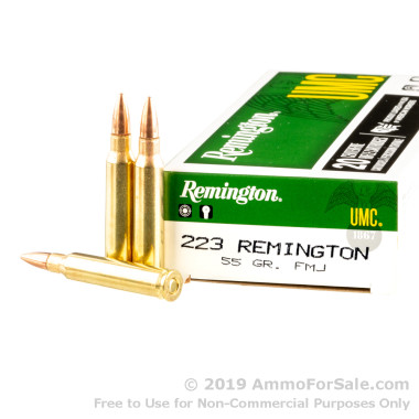 500 Rounds of 55gr FMJ .223 Ammo by Remington UMC