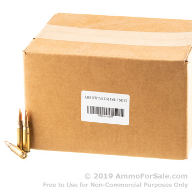 500 Rounds of XM118 175gr OTM 7.62x51mm Ammo by Lake City