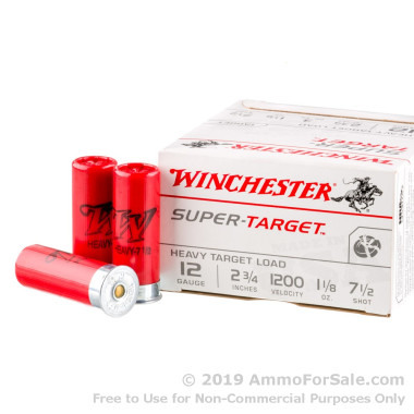 25 Rounds of 1 1/8 ounce #7 1/2 shot 12ga Ammo by Winchester