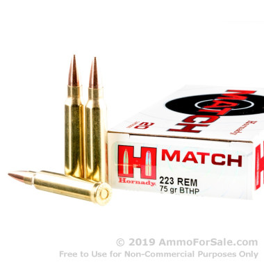 20 Rounds of 75gr HPBT .223 Ammo by Hornady