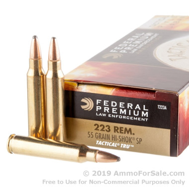 20 Rounds of 55gr SP .223 Ammo by Federal LE Tactical