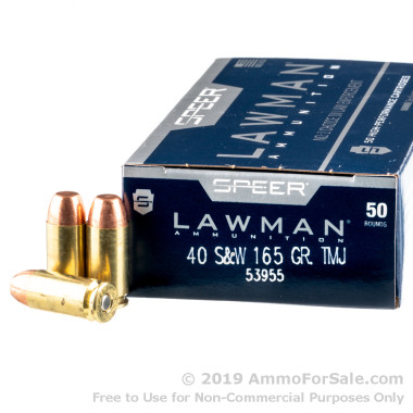 40 cal ammo by Speer Lawman