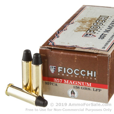 50 Rounds of 158gr LRNFP .357 Mag Ammo by Fiocchi
