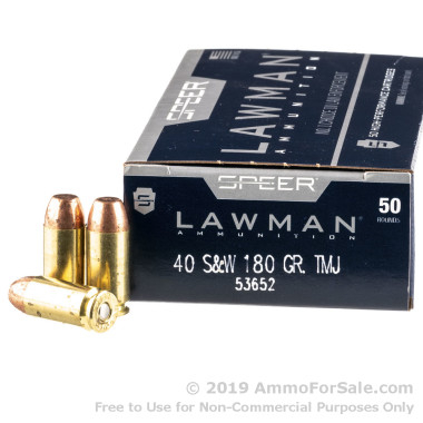 1000 Rounds of 180gr TMJ .40 S&W Ammo by Speer