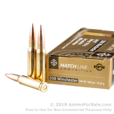 20 Rounds of 168gr HPBT .308 Win Ammo by Prvi Partizan
