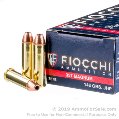 50 Rounds of 148gr JHP .357 Mag Ammo by Fiocchi